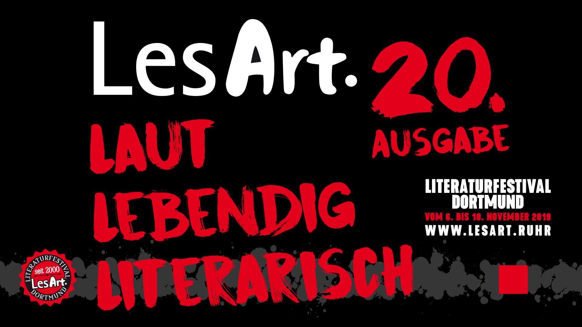 LesArt. Literaturfestival Dortmund 2019
